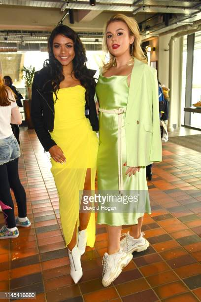 Vanessa Bauer and Tallia Storm attend Fun In The Foyer Screening Of Detective Pikachu at BFI Southbank on April 27, 2019 in London, England.