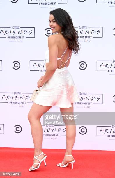 Vanessa Bauer attends the Comedy Central's FriendsFest: London Photocall at Clapham Common on June 24, 2021 in London, England.