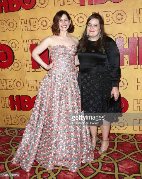 Vanessa Bayer and Aidy Bryant attend HBO's Post Emmy Awards Reception at The Plaza at the Pacific Design Center on September 17 2017 in Los Angeles...