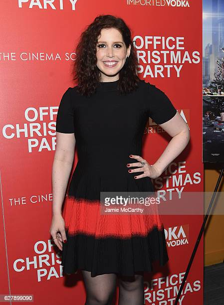Vanessa Bayer attends the Paramount Pictures with The Cinema Society Svedka host a screening of 'Office Christmas Party' at Landmark Sunshine Cinema...