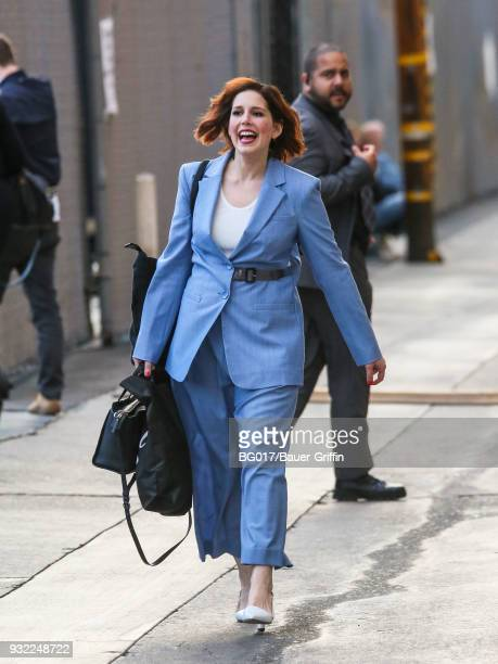 Vanessa Bayer is seen arriving at 'Jimmy Kimmel Live' on March 14 2018 in Los Angeles California