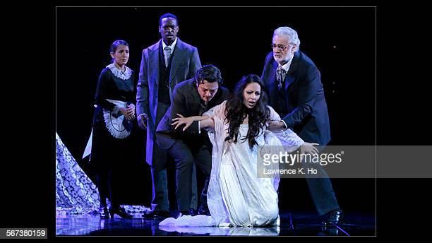 LOS ANGELES CA SEP 11 2014 Vanessa Becerra as Annina Soloman Howard as Doctor Grenvil Arturo Chac—nCruz as Alfredo Nino Machaidze as Violetta and...