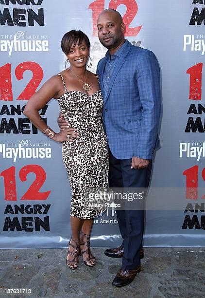 Vanessa Bell Calloway and Anthony Calloway attend '12 Angry Men' at the Pasadena Playhouse on November 10 2013 in Pasadena California