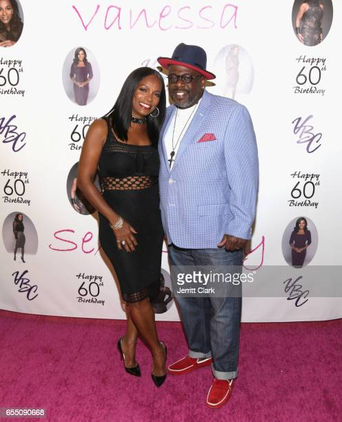 Vanessa Bell Calloway and Cedric the Entertainer attend Vanessa Bell Calloway's 60th Birthday Bash at Cicada on March 18 2017 in Los Angeles...