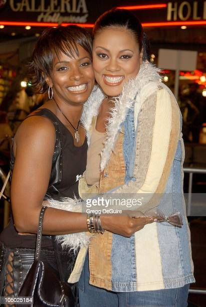 Vanessa Bell Calloway and Lela Rochon during Biker Boyz Premiere at Mann's Chinese Theatre in Hollywood California United States