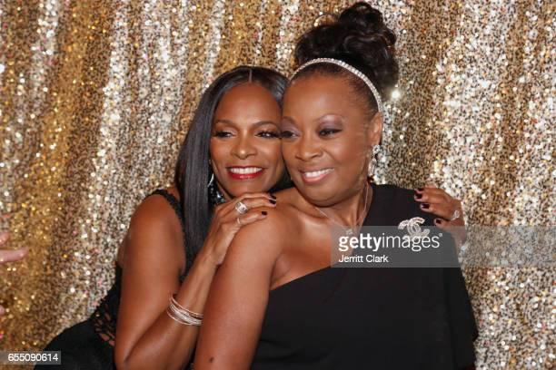Vanessa Bell Calloway and Star Jones attend Vanessa Bell Calloway's 60th Birthday Bash at Cicada on March 18 2017 in Los Angeles California