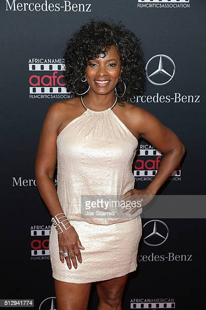 Vanessa Bell Calloway arrives at the MercedesBenz and African American Film Critics Association Oscar viewing party at Four Seasons Hotel Beverly...