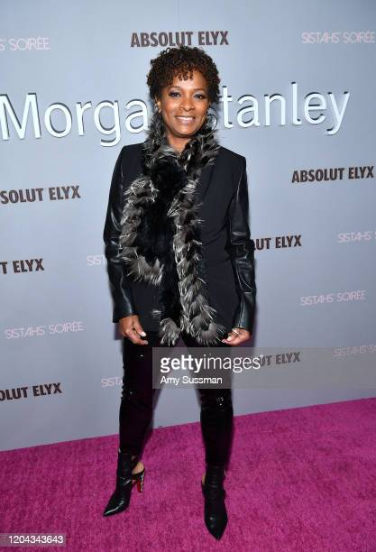 Vanessa Bell Calloway attends Alfre Woodard's 11th Annual Sistahs' Soirée Presented by Morgan Stanley With Absolut Elyx on February 05 2020 in Los...