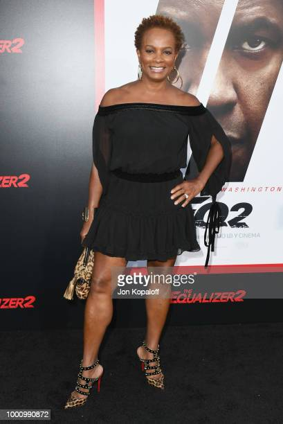 Vanessa Bell Calloway attends premiere of Columbia Picture's 'Equalizer 2' at TCL Chinese Theatre on July 17 2018 in Hollywood California