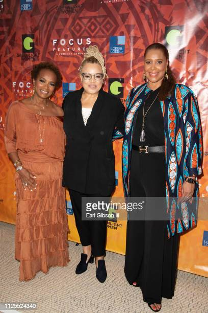 Vanessa Bell Calloway Kasi Lemmons and Kim Ogletree attend the Greenlight Women For Black History Month Brunch Celebration at The London on February...