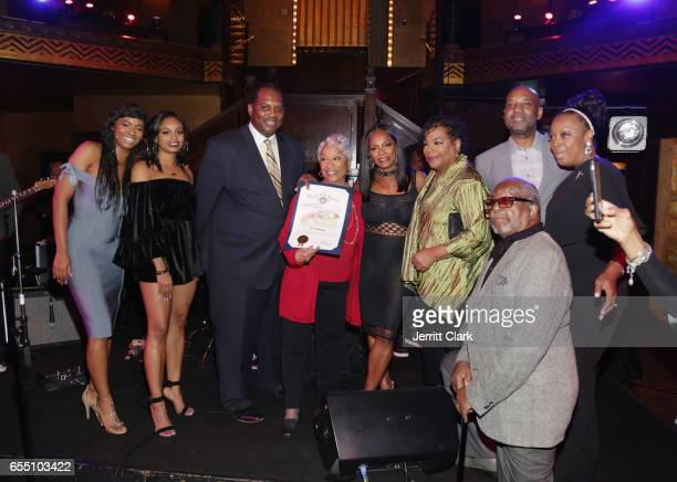 Vanessa Bell Calloway receives a Proclaimation during her 60th Birthday Bash at Cicada on March 18 2017 in Los Angeles California