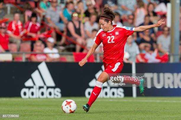 Vanessa Bernauer of Switzerland controls the ball during the Group C match between Austria and Switzerland during the UEFA Women's Euro 2017 at...