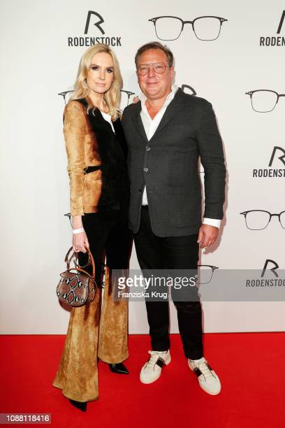 Vanessa Birkenstock and Oliver Kastalio during the Rodenstock Eyewear Show 'A New Vision of Style' at Isarforum on January 24 2019 in Munich Germany