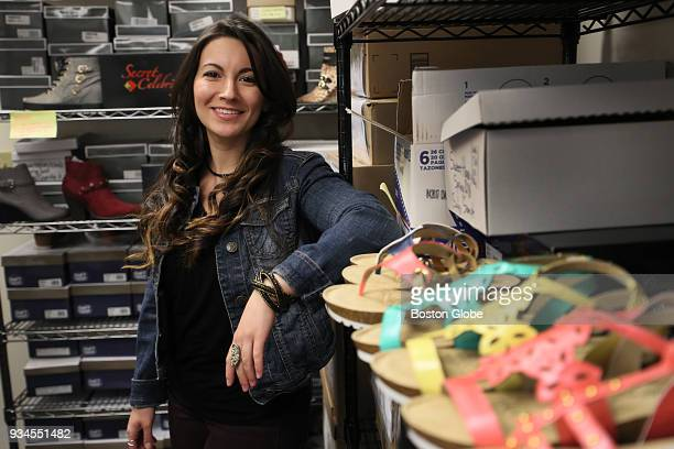 Vanessa Bolieiro a product development manager at Camtrade Footwear a small independent shoe brand poses for a portrait in Boxborough MA on Feb 28...
