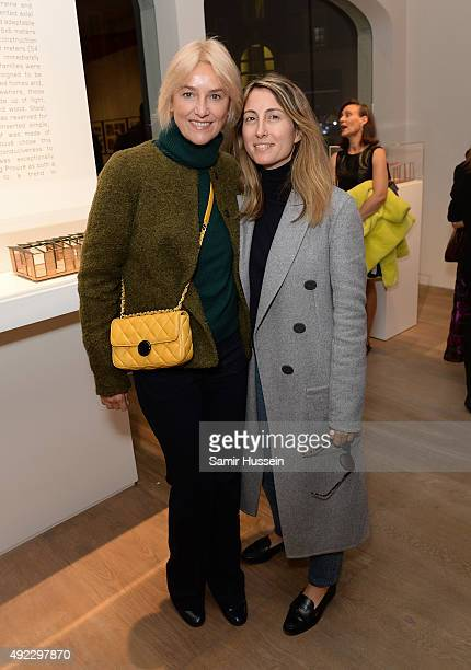 Vanessa Bruno attends a private gallery view before Laurence Patrick Seguin host an intimate dinner in celebration of the opening of their London...