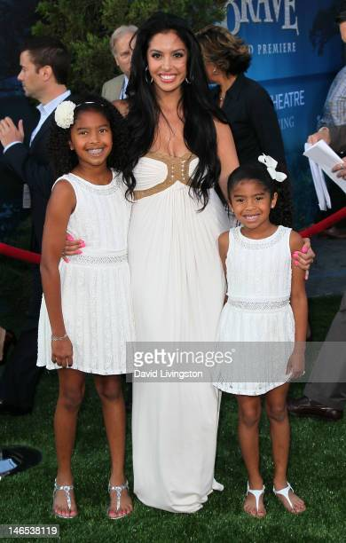 Vanessa Bryant and daughters Natalia Bryant and Gianna Bryant attend Film Independent's 2012 Los Angeles Film Festival premiere of Disney Pixar's...