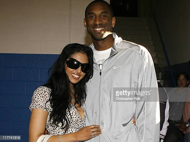 Vanessa Bryant and Kobe Bryant during Kobe Bryant and NBA '07's Eclectic Billy Joe Cuthbert Join Kids From the Lied Memorial Boys and Girls Club of...