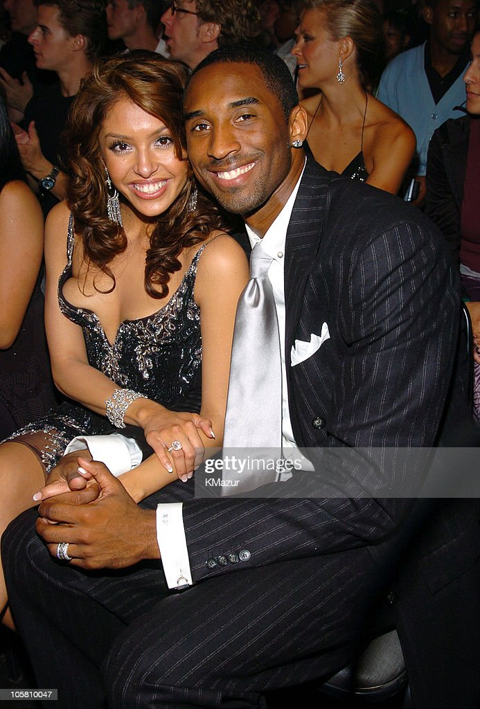Vanessa Bryant and Kobe Bryant during MTV Movie Awards 2004 - Backstage and Audience at Sony Pictures Studios in Culver City, California, United States.