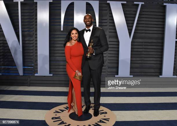 Vanessa Bryant and NBA player Kobe Bryant attend the 2018 Vanity Fair Oscar Party hosted by Radhika Jones at Wallis Annenberg Center for the...