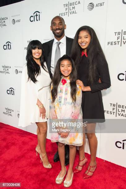 Vanessa Bryant former NBA Player Kobe Bryant Natalia Bryant and Gianna Bryant attend the 2017 Tribeca Film Festival's Tribeca Talks Storytellers Kobe...