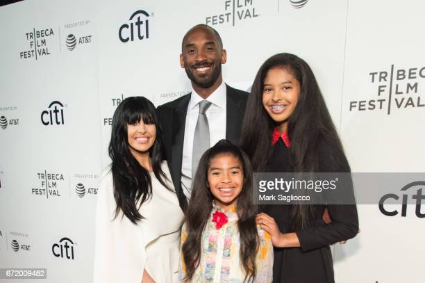 Vanessa Bryant, former NBA Player Kobe Bryant, Natalia Bryant and Gianna Bryant attend the 2017 Tribeca Film Festival's Tribeca Talks: Storytellers:...