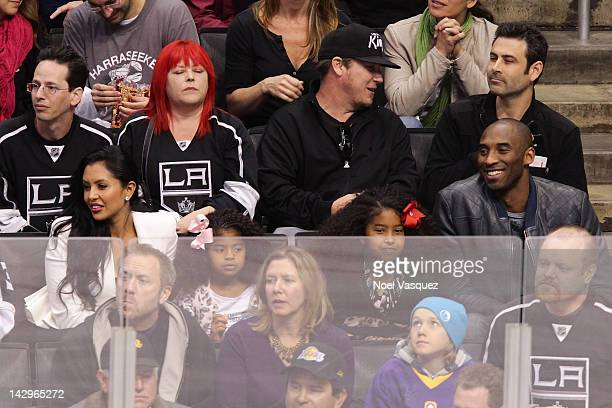 Vanessa Bryant Gianna MariaOnore Bryant Natalia Diamante Bryant and Kobe Bryant attend a playoff hockey game between the Vancouver Canucks and the...