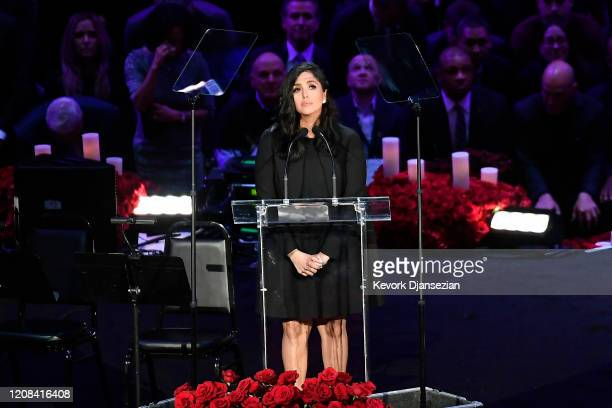 Vanessa Bryant speaks during The Celebration of Life for Kobe & Gianna Bryant at Staples Center on February 24, 2020 in Los Angeles, California.