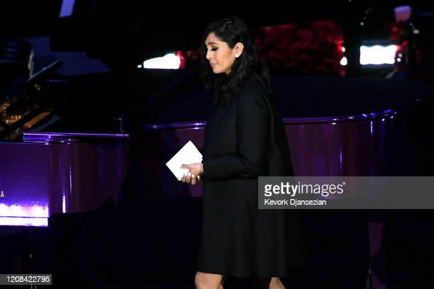 Vanessa Bryant speaks during The Celebration of Life for Kobe Gianna Bryant at Staples Center on February 24 2020 in Los Angeles California
