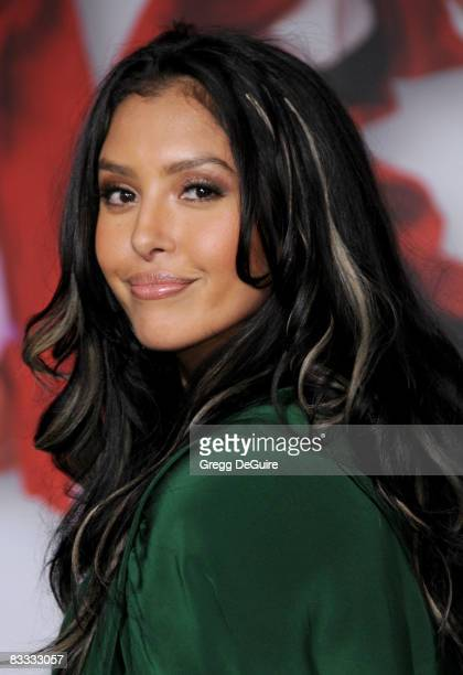 "Vanessa Bryant, wife of Kobe Bryant, arrives at the Los Angeles Premiere of ""High School Musical 3"" at the Galen Center at the University Of Southern..."