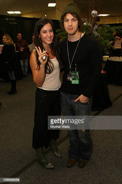 Vanessa Carlton and Gavin DeGraw during Z100's Jingle Ball 2004 Artist Gift Lounge by On 3 Productions at Madison Square Garden in New York City New...