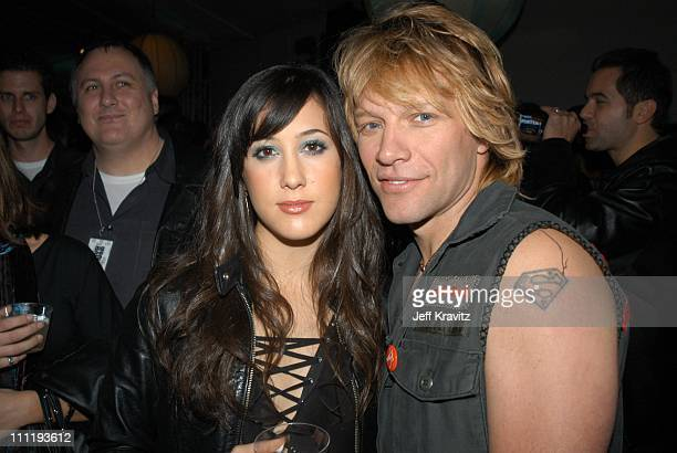 Vanessa Carlton and Jon Bon Jovi during VH1 Big in 2002 Awards After Party at Grand Olympic Auditorium in Los Angeles CA United States