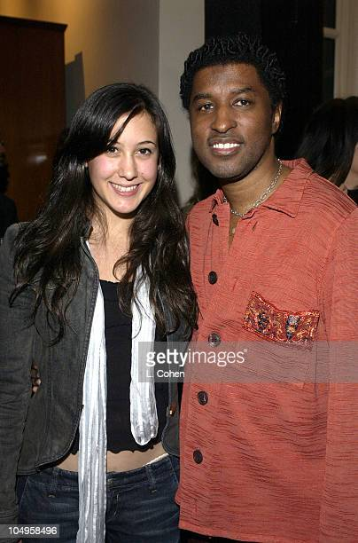 Vanessa Carlton and Kenny 'Babyface' Edmonds during Songs of Hope 2 Benefiting City of Hope Cancer Center at Private Residence in Holmby Hills...