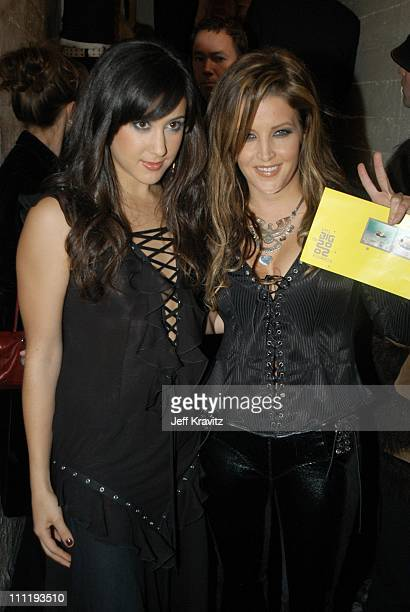Vanessa Carlton and Lisa Marie Presley during VH1 Big in 2002 Awards Backstage and Audience at Grand Olympic Auditorium in Los Angeles CA United...
