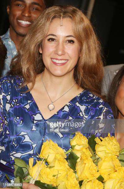 Vanessa Carlton as Carole King poses backstage at the hit musical Beautiful The Carole King Musical on Broadway at The Stephen Sondheim Theatre on...