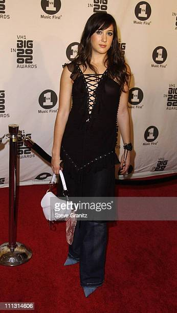 Vanessa Carlton during VH1 Big in 2002 Awards Arrivals at The Grand Olympic Auditorium in Los Angeles California United States