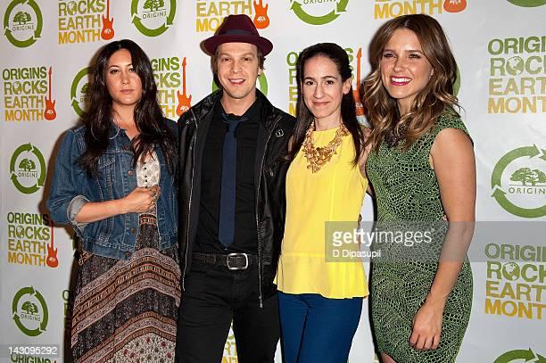Vanessa Carlton Gavin DeGraw Jane Lauder and Sophia Bush attend the 3rd Annual Origins Rocks Earth Month Concert on April 18 2012 in New York City