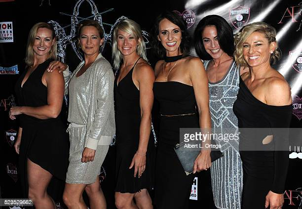 Vanessa Cater Zoe Bell Jessie Graff Dayna Grant Yancy Butler and Heidi Moneymaker at the 2nd Annual Artemis Film Festival Red Carpet Opening...
