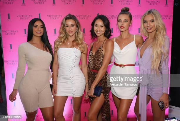 Vanessa Christine Cindy Prado Olivia Pascale Jessica Matin and Alexa Collins attend Victoria's Secret The Incredible Tour on April 25 2019 in Miami...