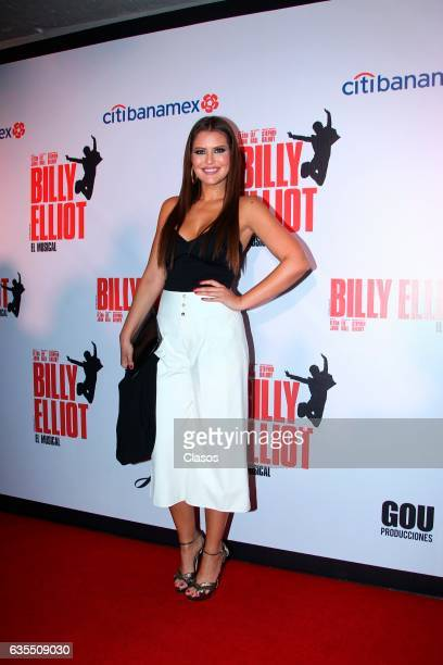 Vanessa Claudio poses for the camera during the opening night of Billy Elliot Music Show on February 15 2017 in Mexico City Mexico
