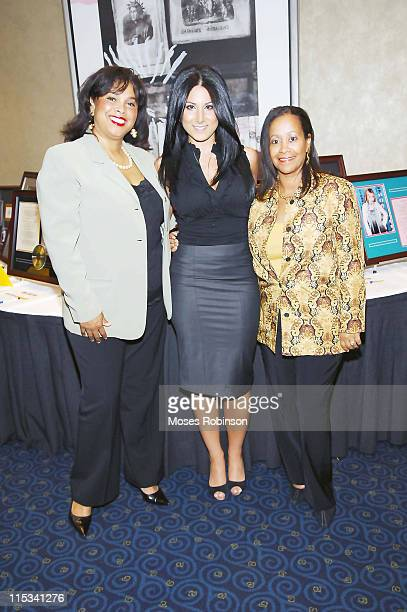 Vanessa Clayton Amy Eslami and Angela Gibson at the Fifth Annual Warrick Dunn Foundation Gala on October 1 2007 in Atlanta USA
