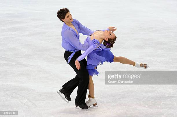 Vanessa Crone and Paul Poirier of Canada compete in the free dance portion of the Ice Dance competition on day 11 of the 2010 Vancouver Winter...