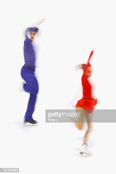 Vanessa Crone and Paul Poirier of Canada skate in the Ice Dance Free Dance during ISU Grand Prix and Junior Grand Prix Final at Beijing Capital...