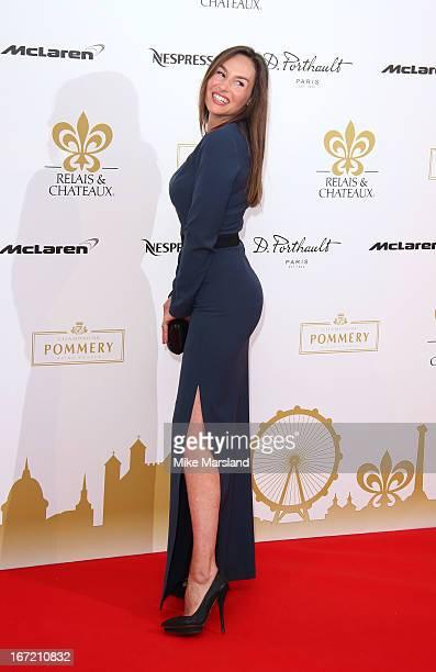 Vanessa Demouy attends as Relais Chateaux present 'Diner Des Grands Chefs London 2013' at The Old Billingsgate on April 22 2013 in London England