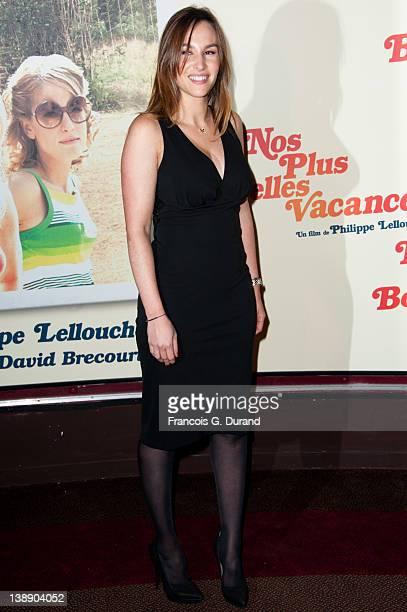 Vanessa Demouy attends 'Nos Plus Belles Vacances' Paris Premiere at Gaumont Champs Elysees on February 13 2012 in Paris France