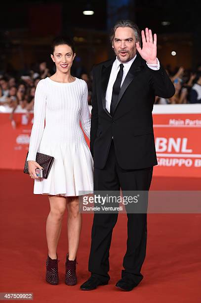 Vanessa di Stefano and Andrea Di Stefano attend the 'Escobar Paradise Lost' Red Carpet during the 9th Rome Film Festival on October 19 2014 in Rome...