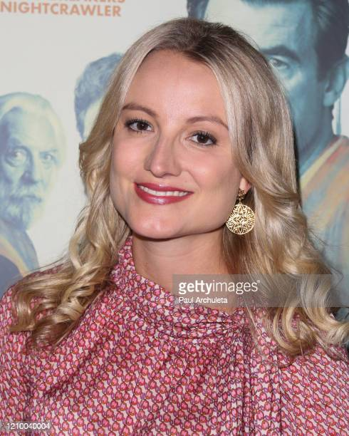"""Vanessa Eichholz attends the LA special screening of Sony's """"The Burnt Orange Heresy"""" at Linwood Dunn Theater on March 02, 2020 in Los Angeles,..."""