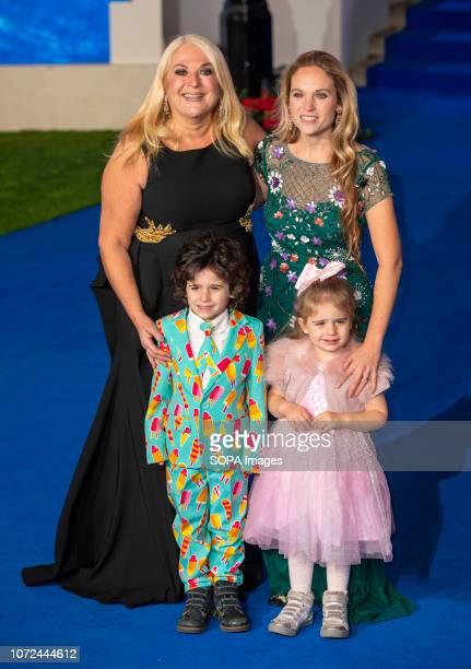 Vanessa Feltz and Allegra Kure attend the European Premiere of 'Mary Poppins Returns' at Royal Albert Hall