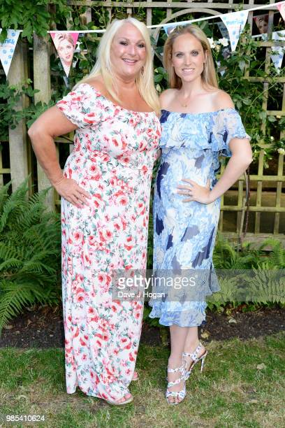 Vanessa Feltz and Allegra Kurer attend the UK premiere of 'Patrick' at an exclusive private London garden on June 27 2018 in London England