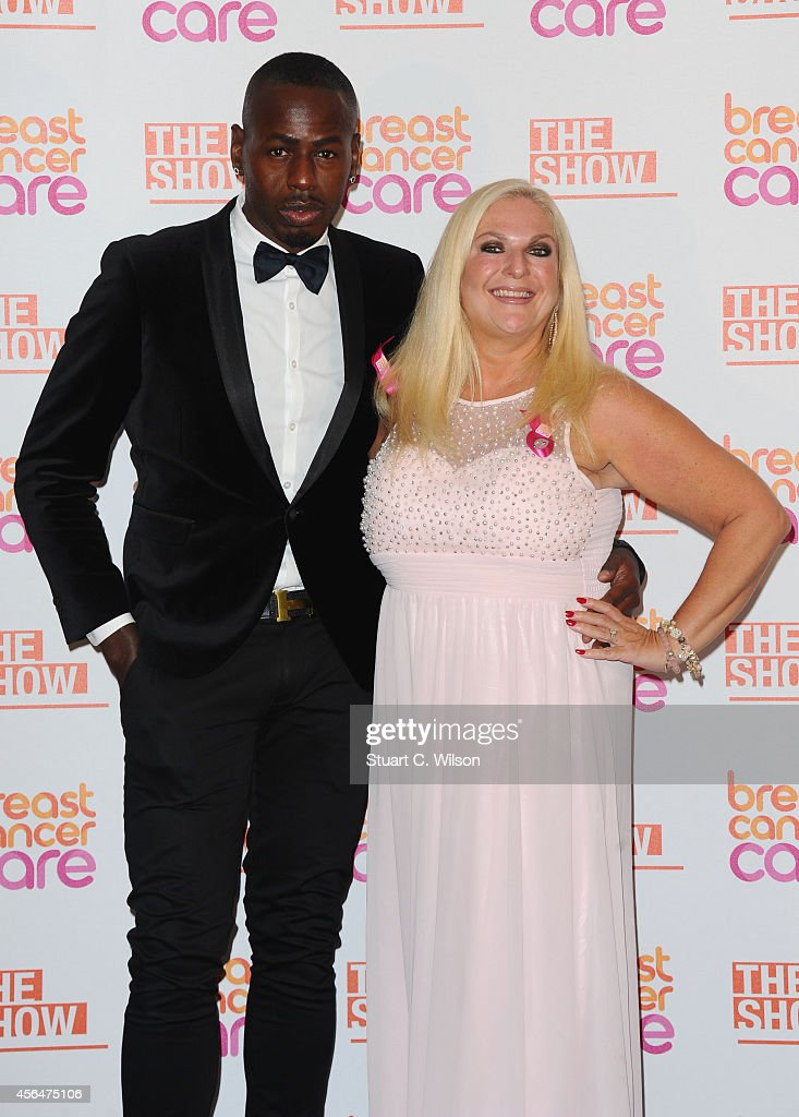 Vanessa Feltz and Ben Ofoedu arrive for the Breast Cancer Care's London Fashion Show 2014 at The Grosvenor House Hotel on October 1, 2014 in London, England.