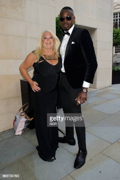 Vanessa Feltz and Ben Ofoedu arriving at The Dorchester hotel Mayfair on June 1 2018 in London England